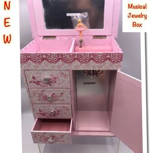 Musical Jewelry Box Many compartments Ballerina
